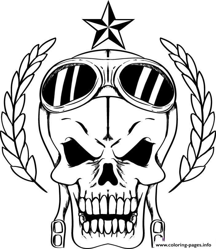 print bad skulls coloring pages