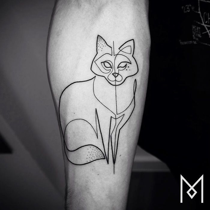 German-Iranian tattoo artist Mo Ganji is back, creating more simple images with a strong impact
