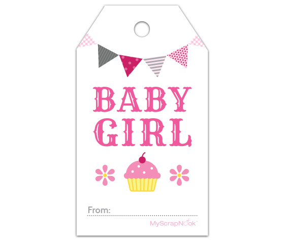 Trust image inside baby shower gift tag printable