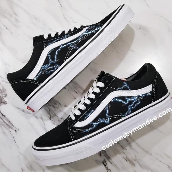 Blitz Custom Vans Old Skool Sneakers   Vans shoes in 2019