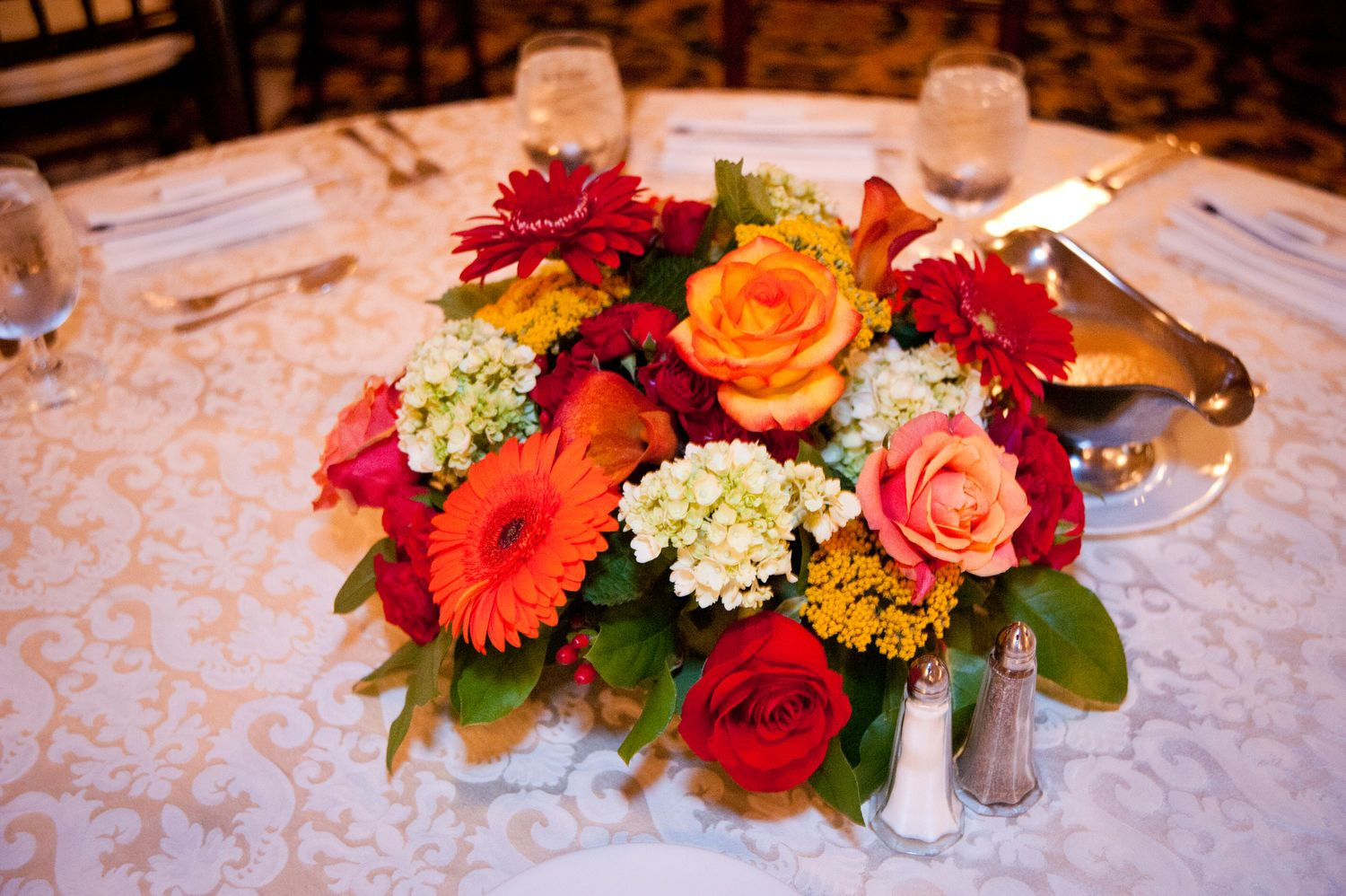 Color!!! Same day flower delivery, Wedding table