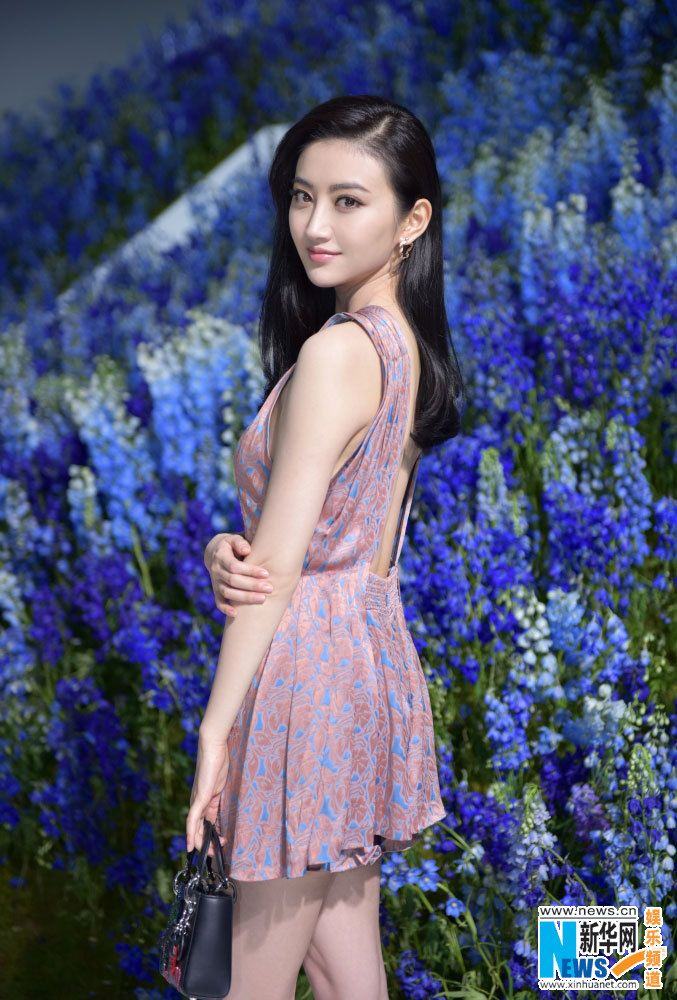 Chinese actress Jing Tian attends Dior show in Paris http://www.chinaentertainmentnews.com/2015/10/jing-tian-rihanna-attend-dior-show-in.html