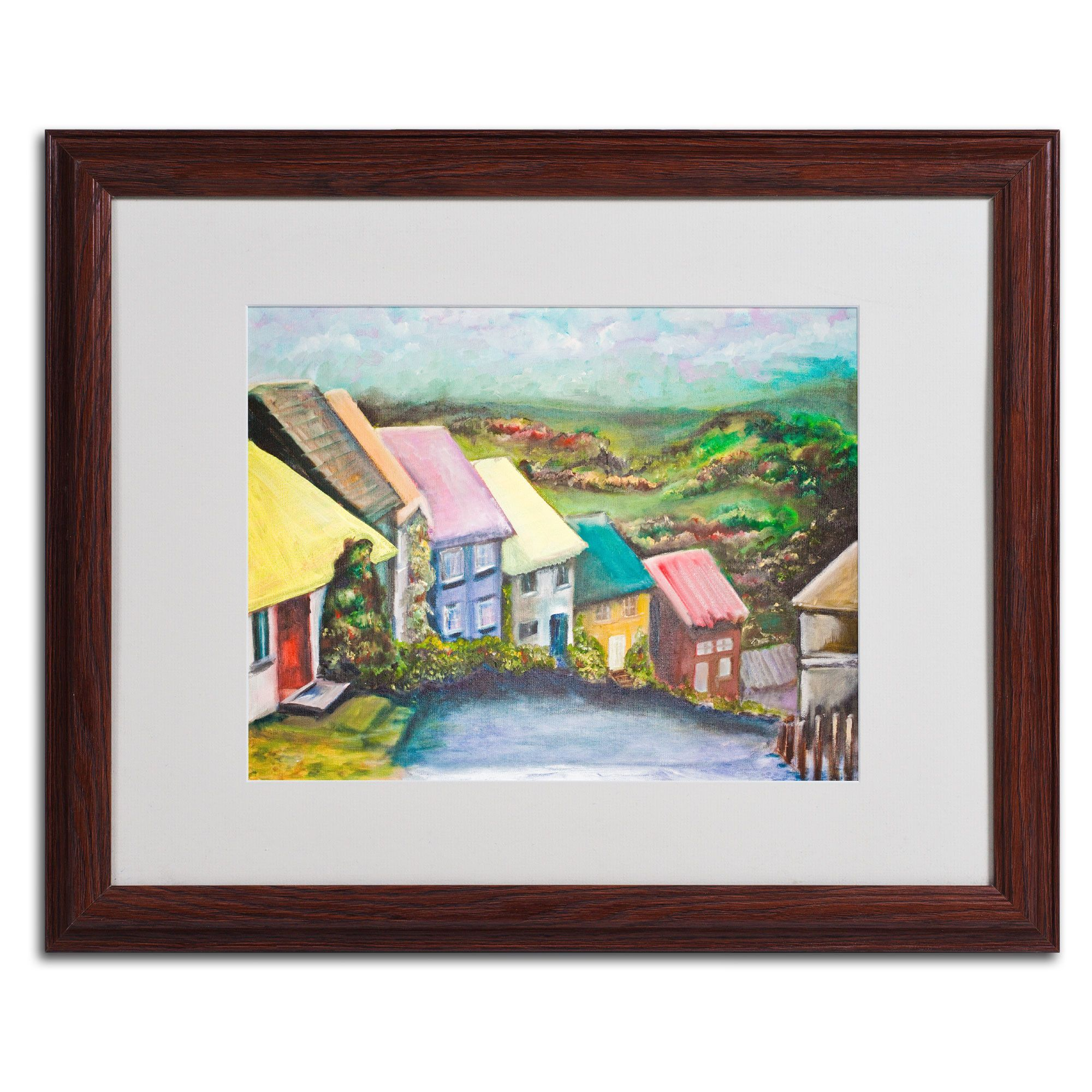 English Countryside by Judy Harris Matted Framed Painting Print