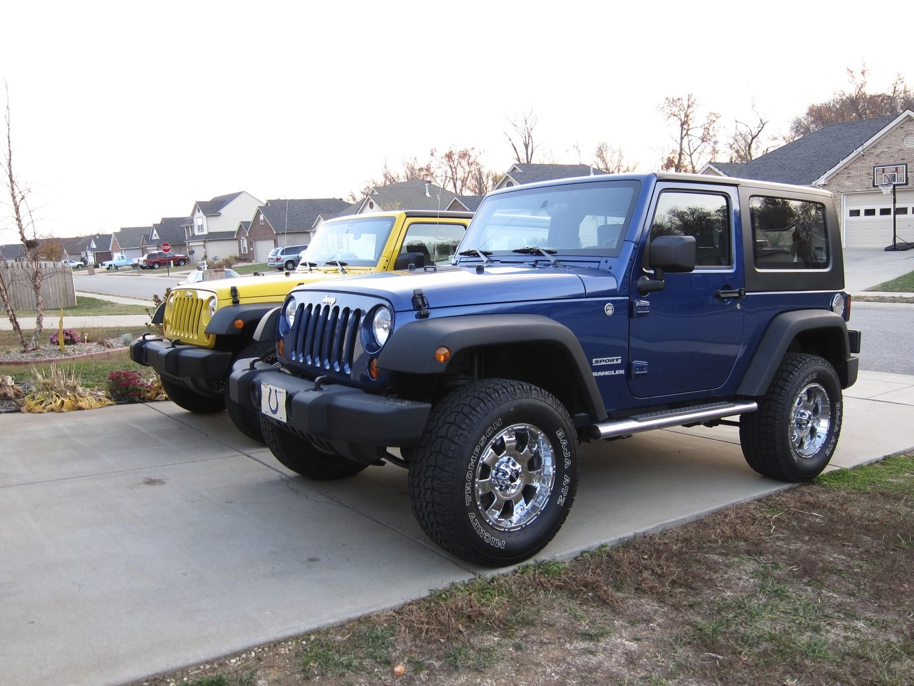 blue jeep wrangler Jeep Wrangler 2 Door Lifted Blue