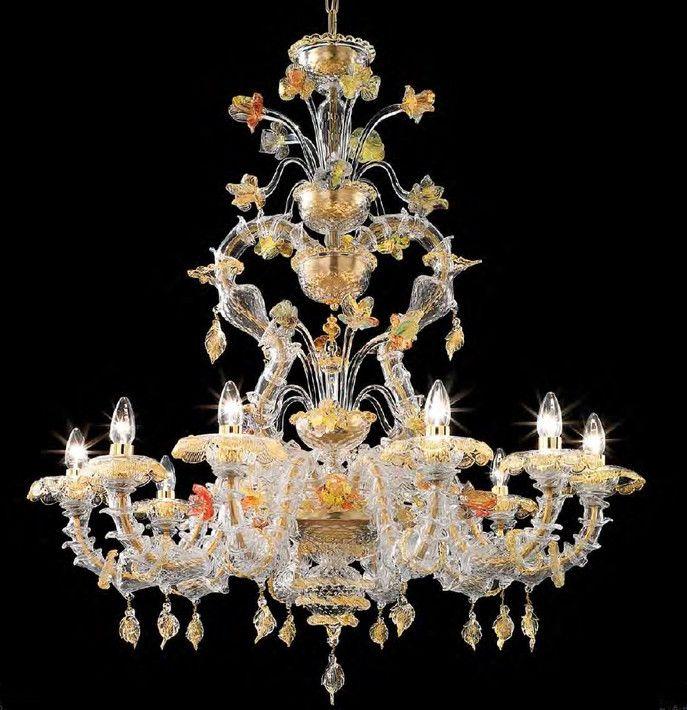 Murano Glass Art Glass Chandelier Murano Glass Chandelier