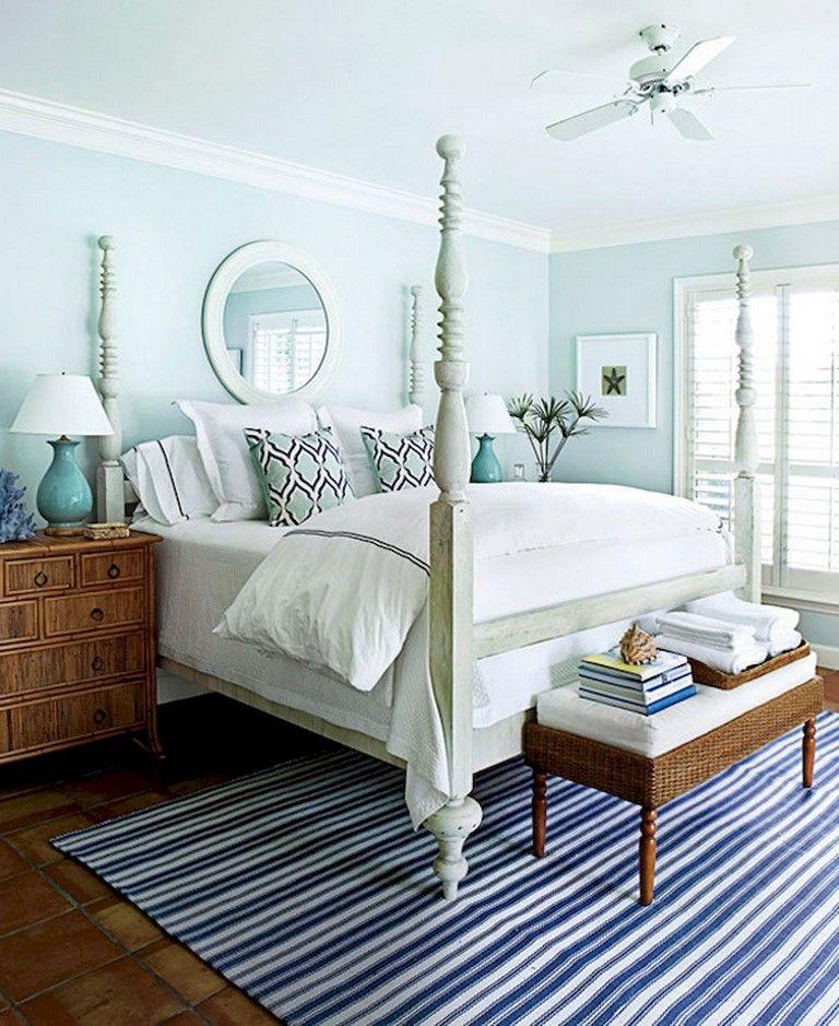 70+ Lovely Coastal Bedroom Design Ideas   White carpet ...