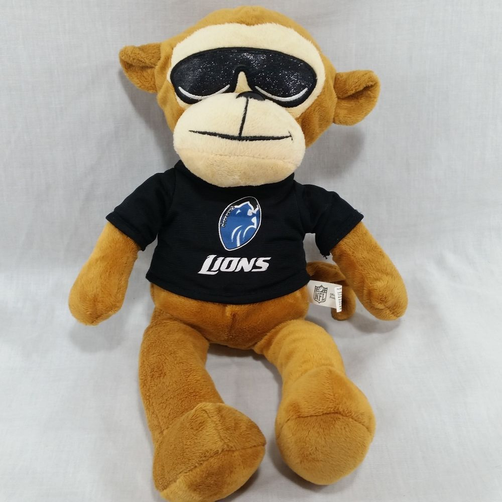 Detroit Lions Plush Monkey Nfl Sunglasses Cool Stuffed Animal Soft