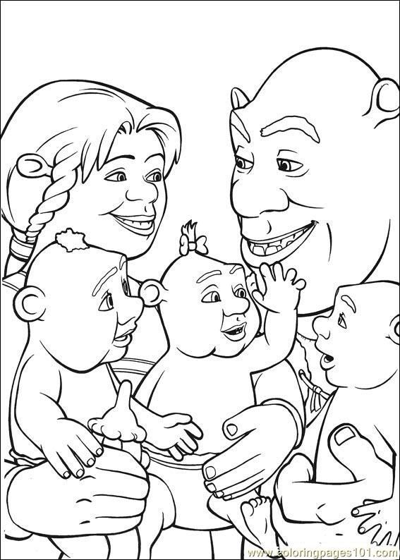 Shrek Coloring Pages Free Printable Coloring Page Shrek 3 36