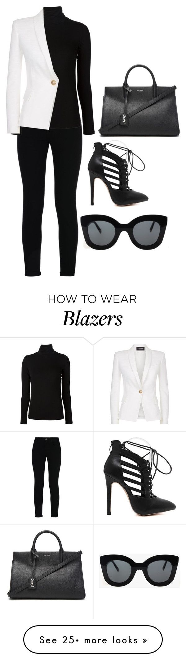 """Untitled black and white "" Outfit and on Polyvore featuring STELLA McCARTNEY…"