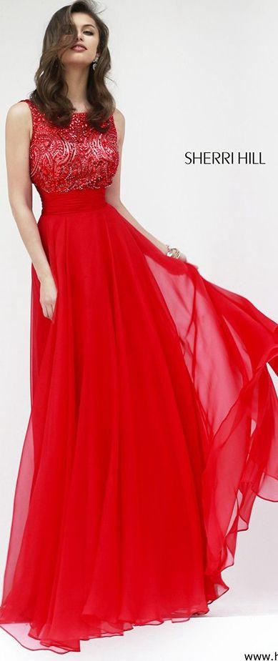 Beaded Sleeveless Gown by Sherri Hill 11170