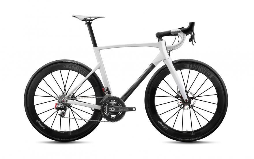 Lightest Bicycle Handlebar Full Carbon Fiber Red White Racing Road Bike Matte UD