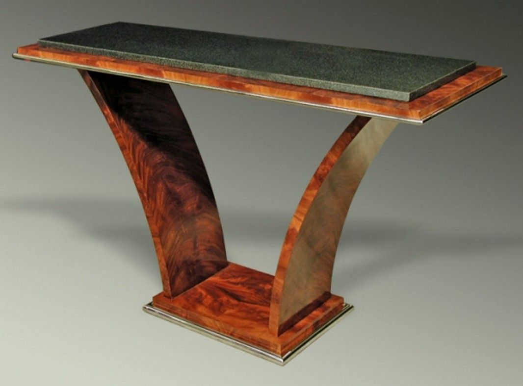 Console Design Furniture art deco tables | art deco v-shaped console table, 1676 | art