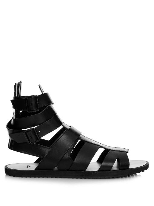 4057f195513f GIVENCHY Leather Gladiator Sandals.  givenchy  shoes  sandals ...