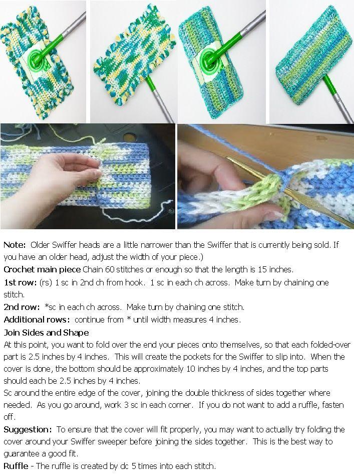 crochet swiffer cover pattern   Crochet   Pinterest   Tejido, Tejido ...