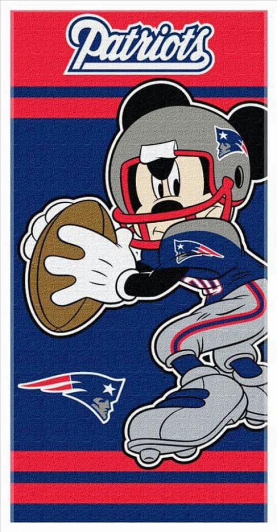 Even Mickey is a Pats fan americanfootball american