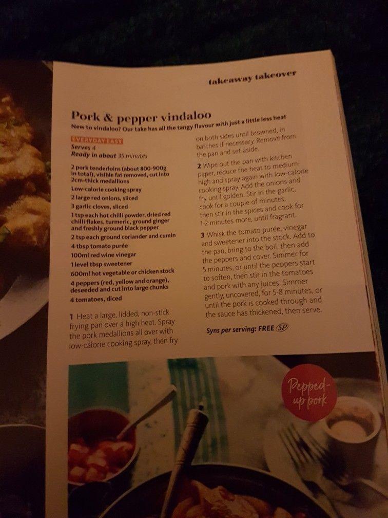 Slimming world pork and pepper vindaloo   HEALTHY PORK