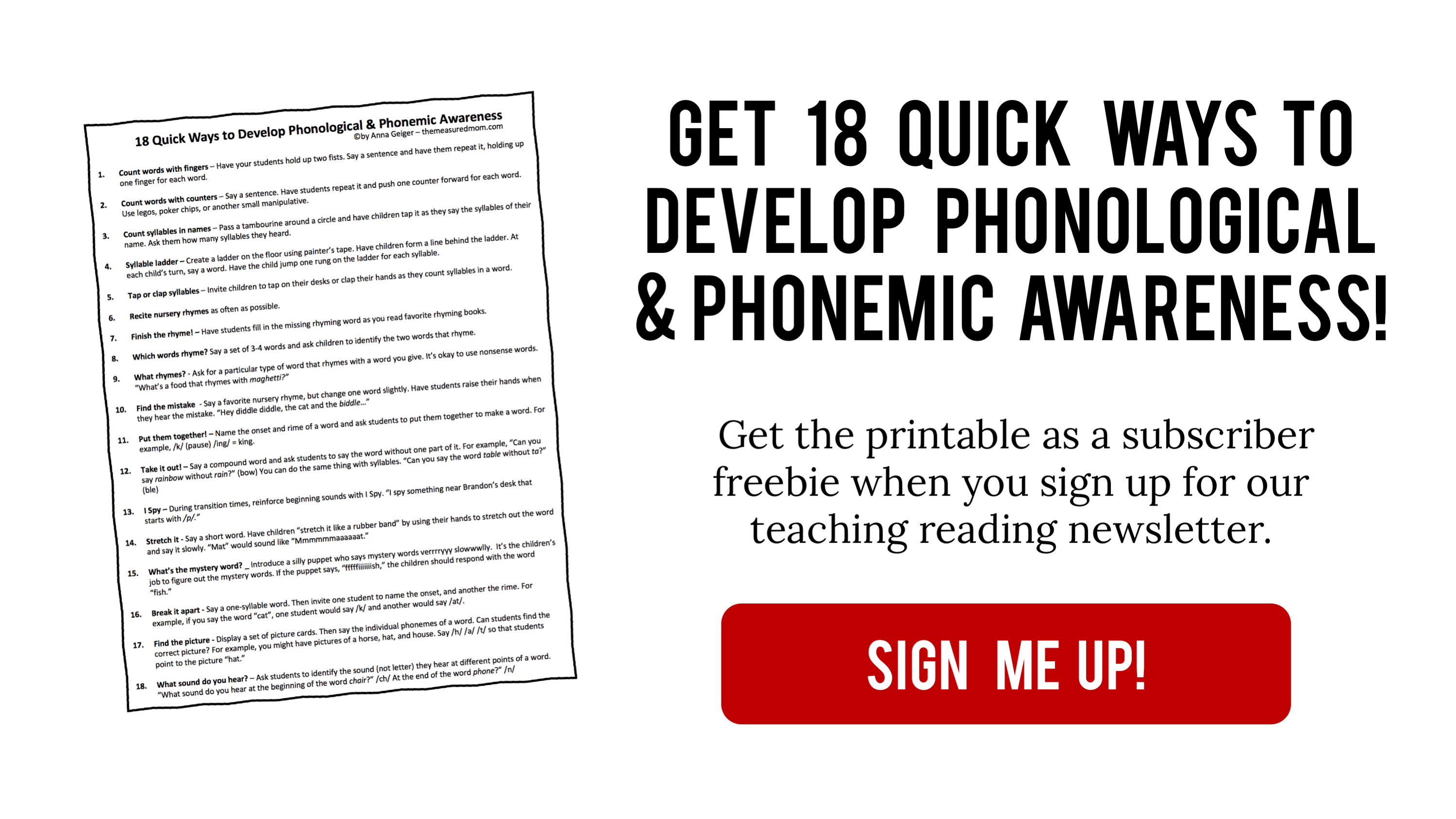 What Are Phonological And Phonemic Awareness With A Free