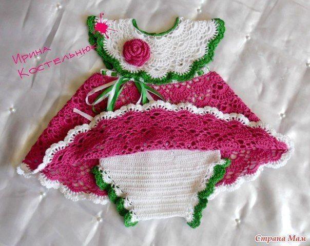 Conjunto para recién nacido a crochet patrones (1) | Вязаные детские ...