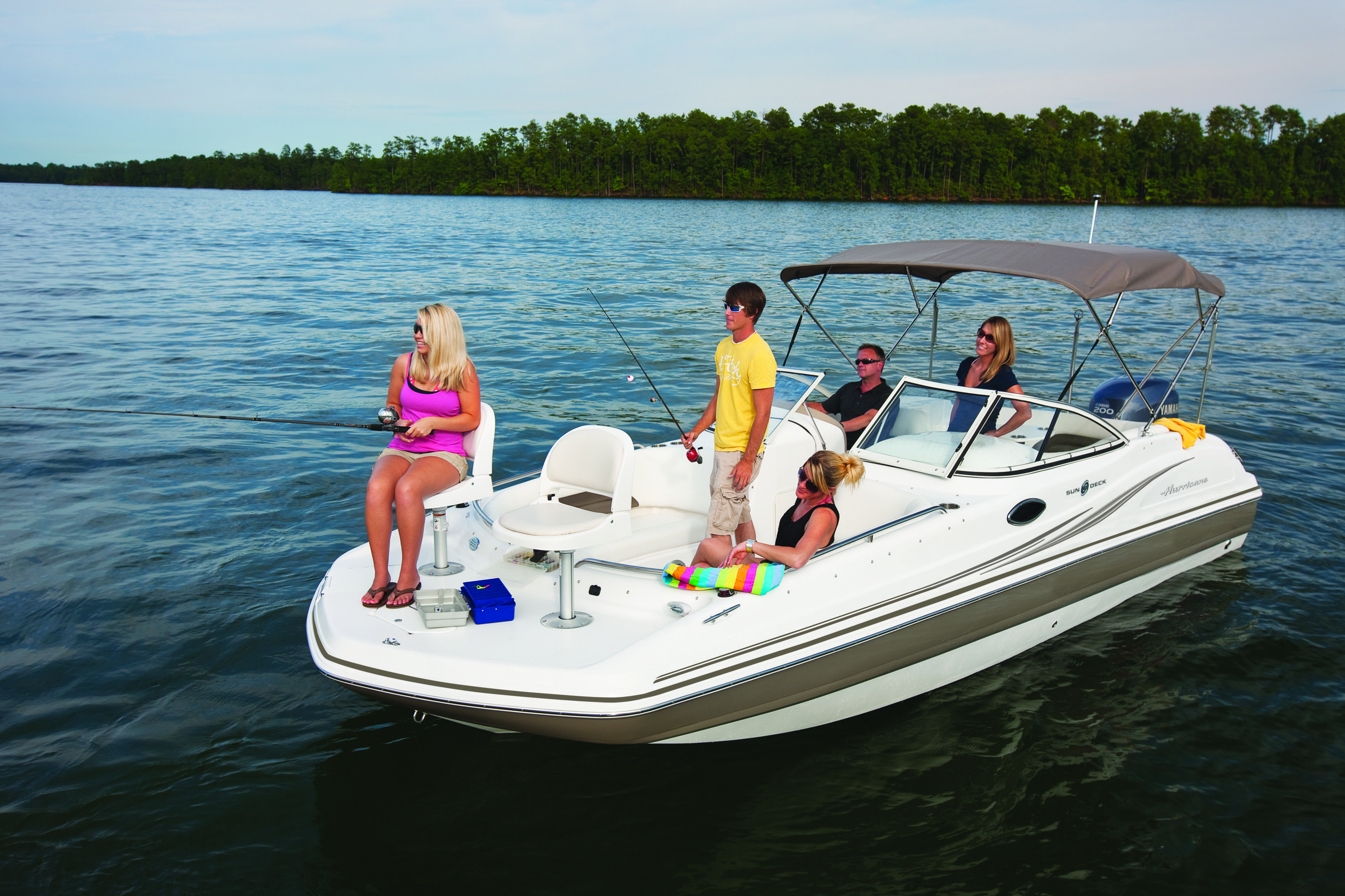 Pin By Hurricane Boats On Hurricane Sundeck Outboard Models Boat Cool Boats Deck Boat