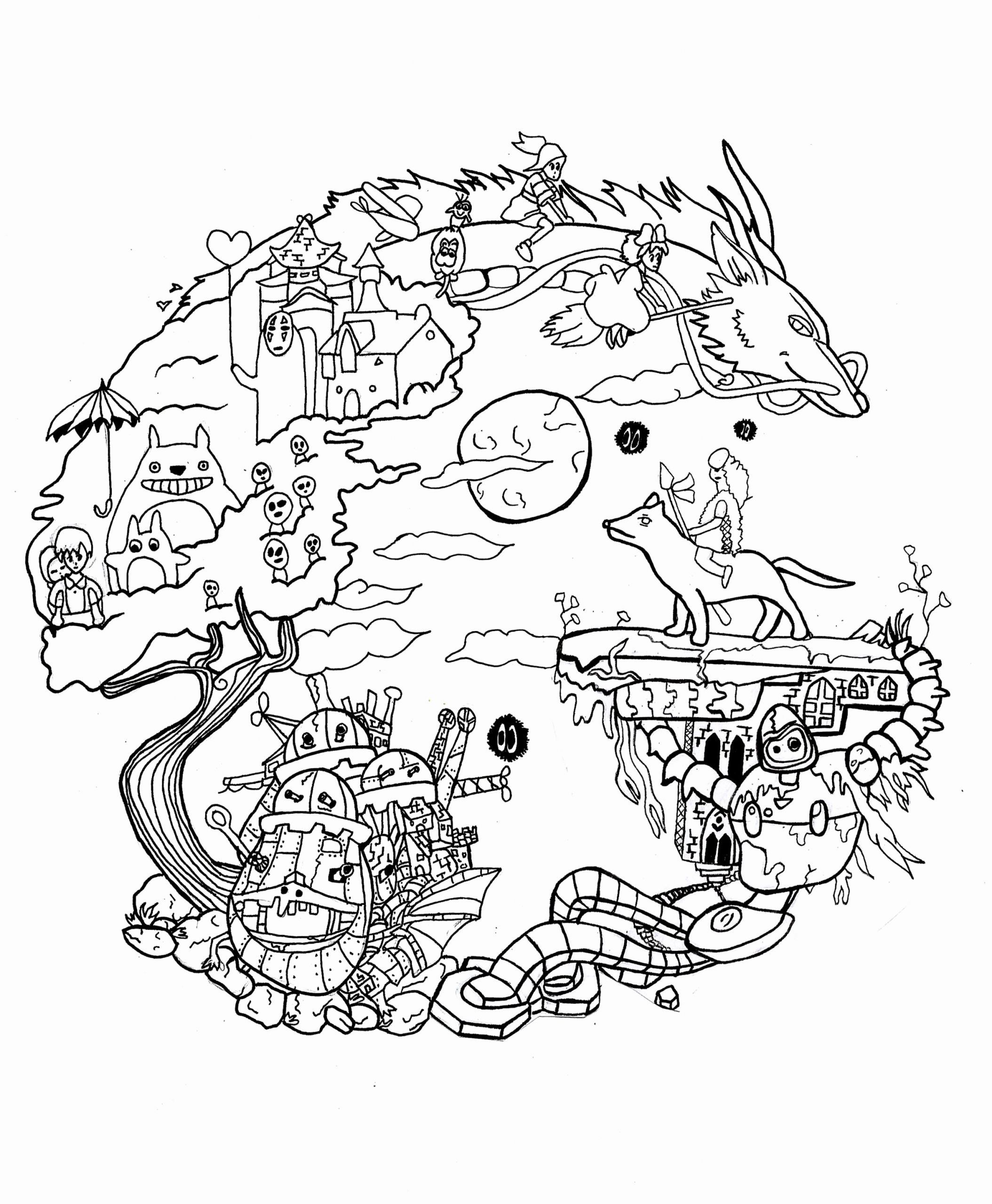 Studio Ghibli Coloring Book Awesome Estudio Ghibli Tattoo
