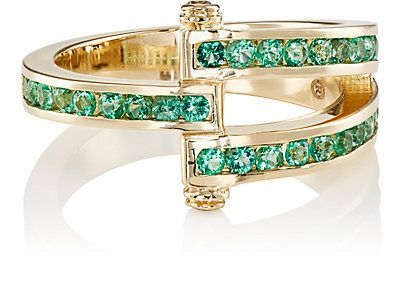 Gold and Emerald magna ring Retrouvai UQIF0a8h