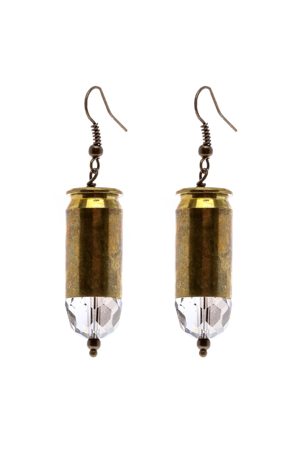 House Of Cach Brass Bullet Earring Pinterest Earrings Rhode Island Wiring French Wire Hooks Approx Measures 175 Long By Accessories Jewelry