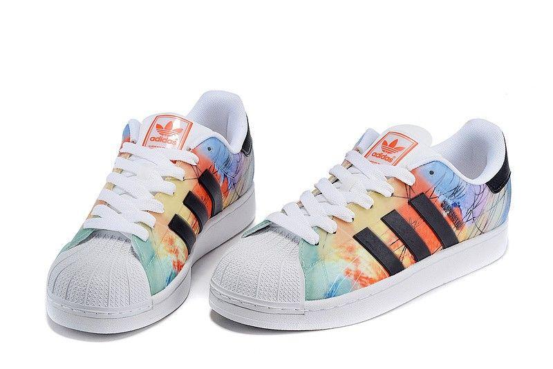 Adidas Originals Superstar II Mens Shell head Skateboard shoes Orange/Yellow /Black B35851