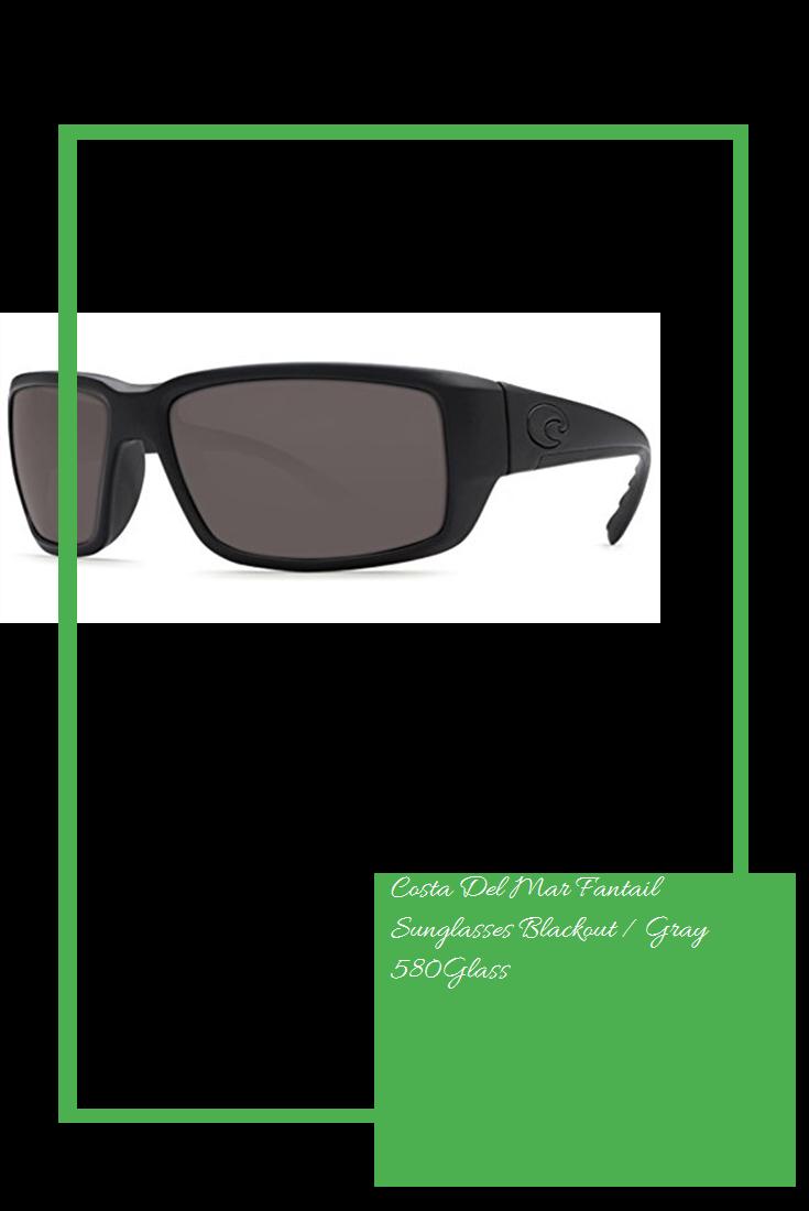10906bdd0f Costa Del Mar Fantail Sunglasses Blackout   Gray 580Glass  new ...