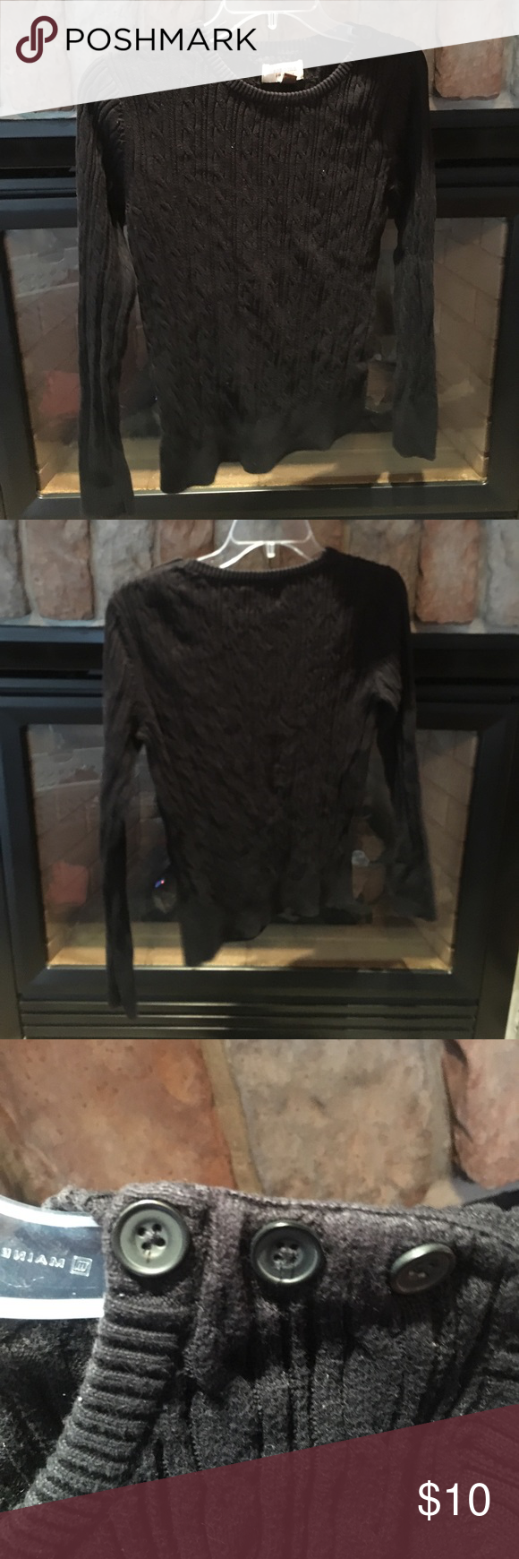 🚨final sale 🚨Black Cable-knit Sweater | Cable knit sweaters ...