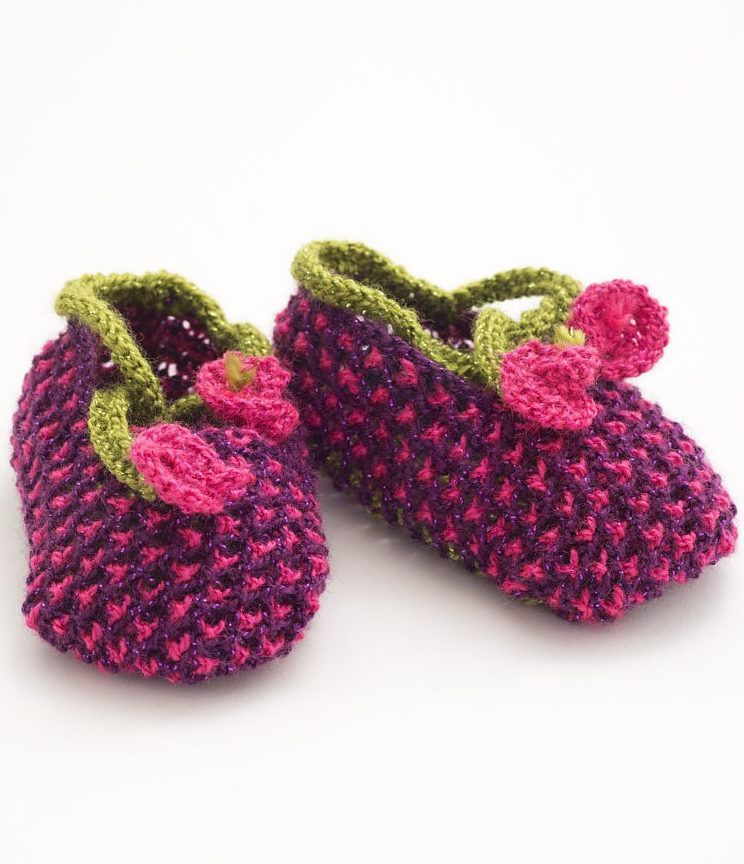 Pin on Baby booties knitting pattern