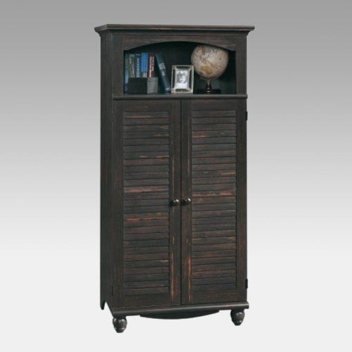 Sauder Harbor View Computer Armoire in Antiqued Paint ...
