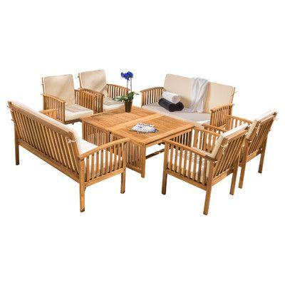 Home Loft Concepts Dakota 8 Piece Dining Set With Cushion U0026 Reviews    Wayfair