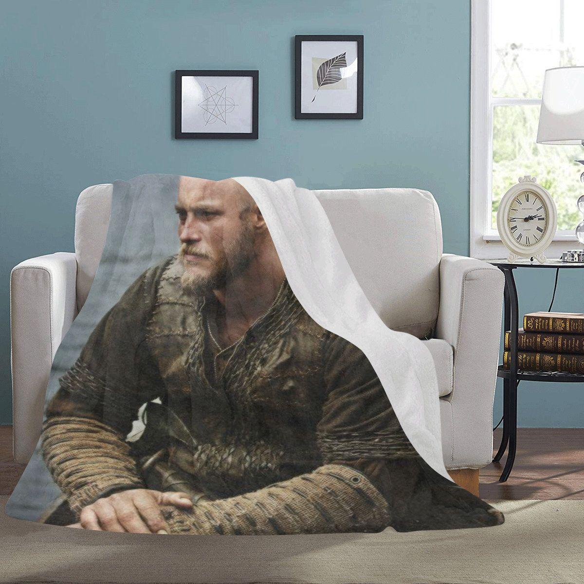 Ragnar Lothbrok Blanket Cozy Vikings Micro Fleece Anniversary Gifts For Her Him Birthday Custom Personalised by UniquegiftsByMaria on Etsy