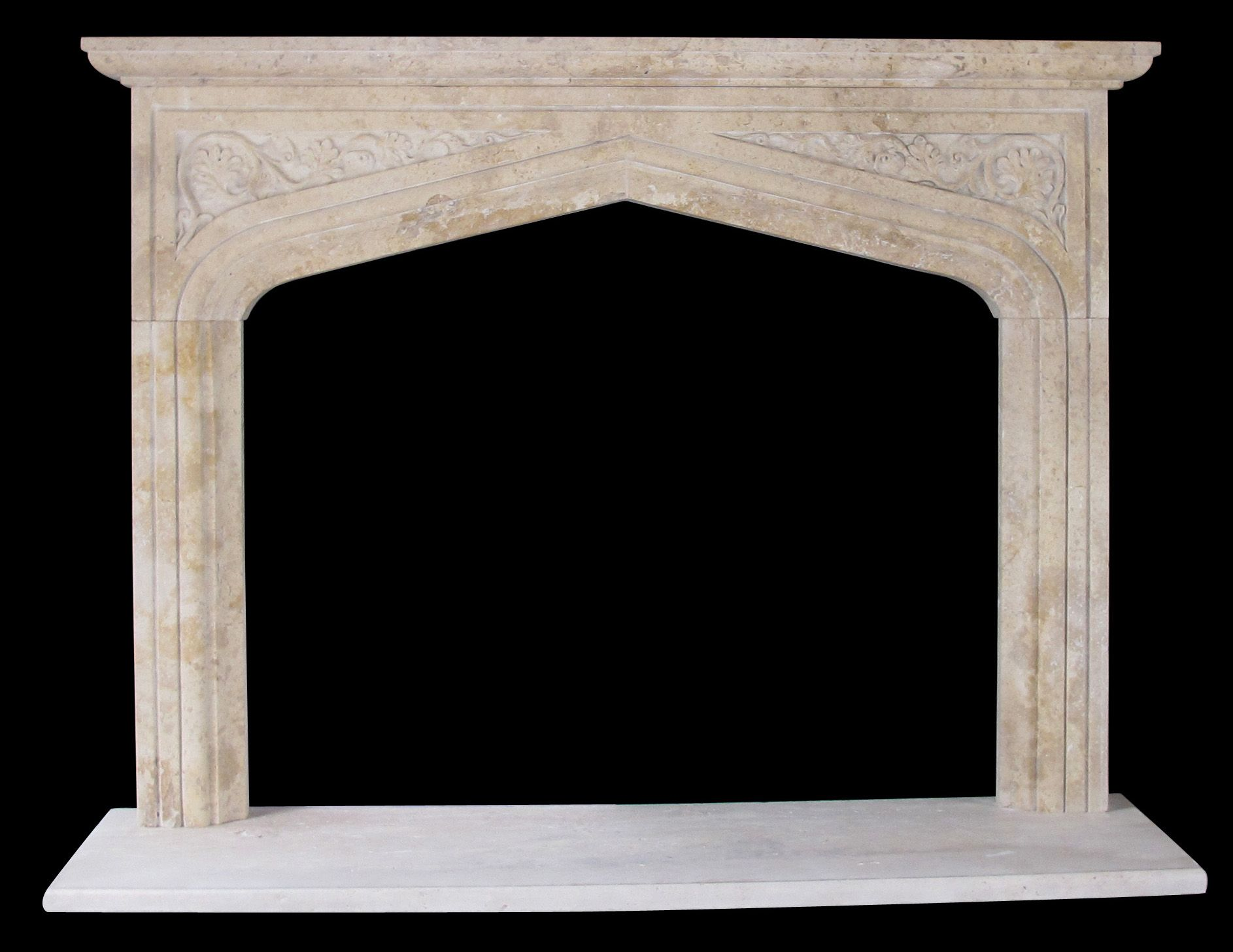 english tudor gothic fireplace surrounds travertine fireplaces