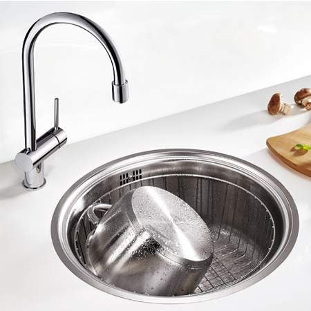 Blanco RONDO SOL-IF Round Bowl Inset Kitchen Sink - BL467027 ...