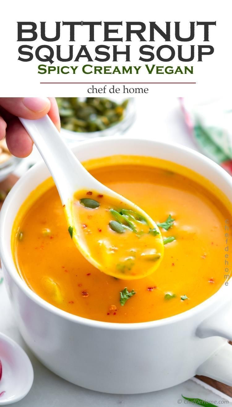 An Easy Recipe For Butternut Squash Soup With Coconut Milk And Thai Curry Fla Butternut Squash Recipes Soup Butternut Squash Soup Creamy Butternut Squash Soup