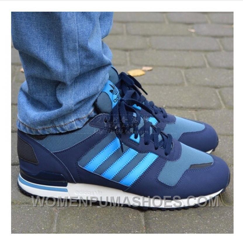 Adidas Zx700 Uomini Blu E Autentico Exsnh Adidas, Puma E Blu Scarpe 0799c5
