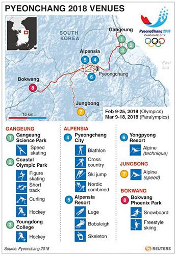 Image Result For Map Of Winter Olympics 2018 Social Studies