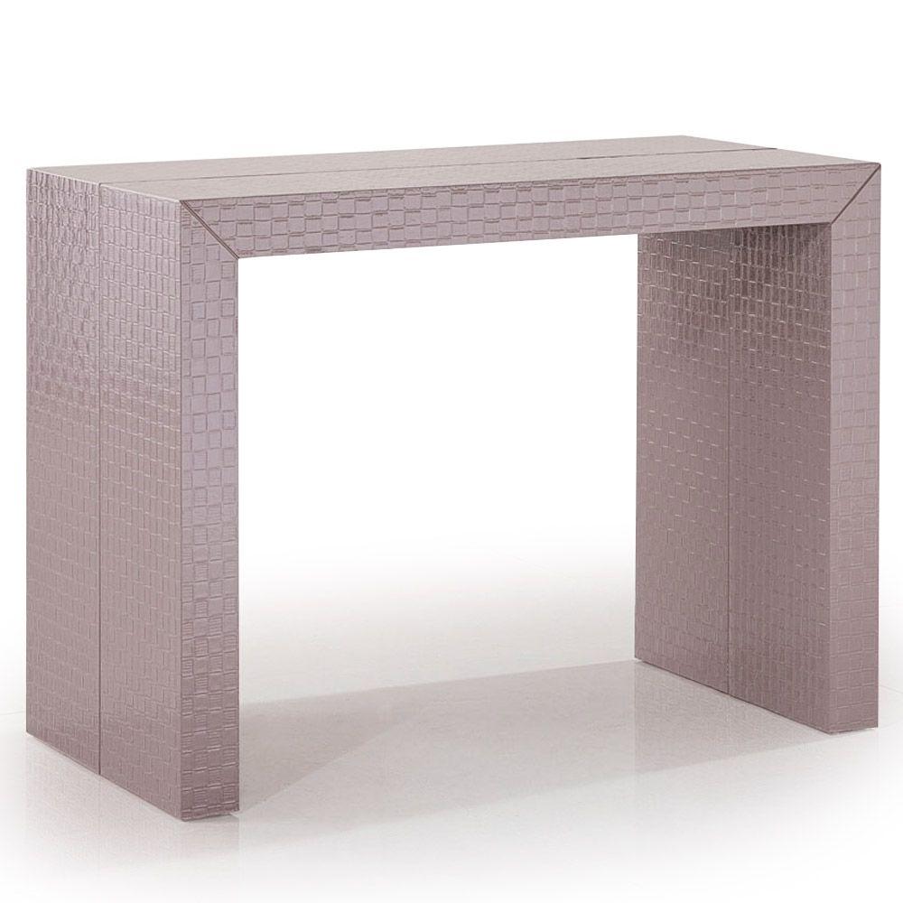 Table Console Extensible Fleur De Lys Couleur Taupe Lestendances Fr Table Console Extensible Console Extensible Console Design