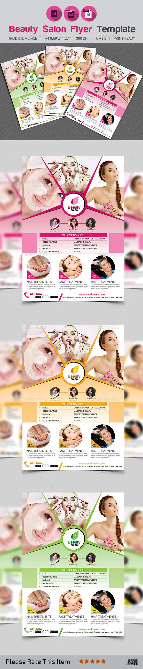 Beauty Salon Flyer Template  Flyer Template Salons And Template
