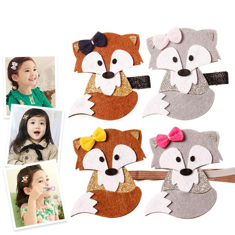 Neu Design Mode Niedlichen Cartoon Fuchs Baby Haarnadeln Prinzessin Haarspange Kinder Haarspangen Kinder Headwear Haar-zusätze
