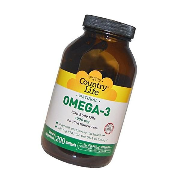 Country Life - Omega-3 - 300 Softgels | Gluten free fish ...