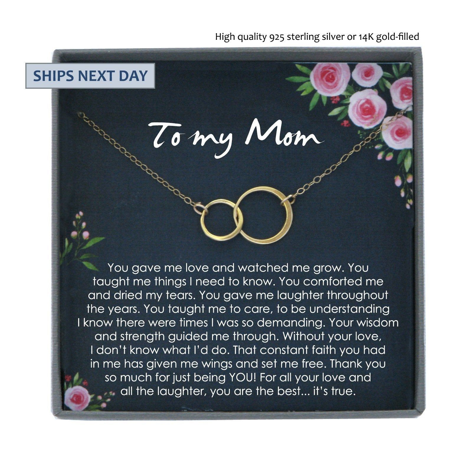 Mother Necklace Mom Gifts for Mom Gift for Mum Necklace Mother Birthday Gifts Idea Mothers Day Jewelry Mummy Gifts