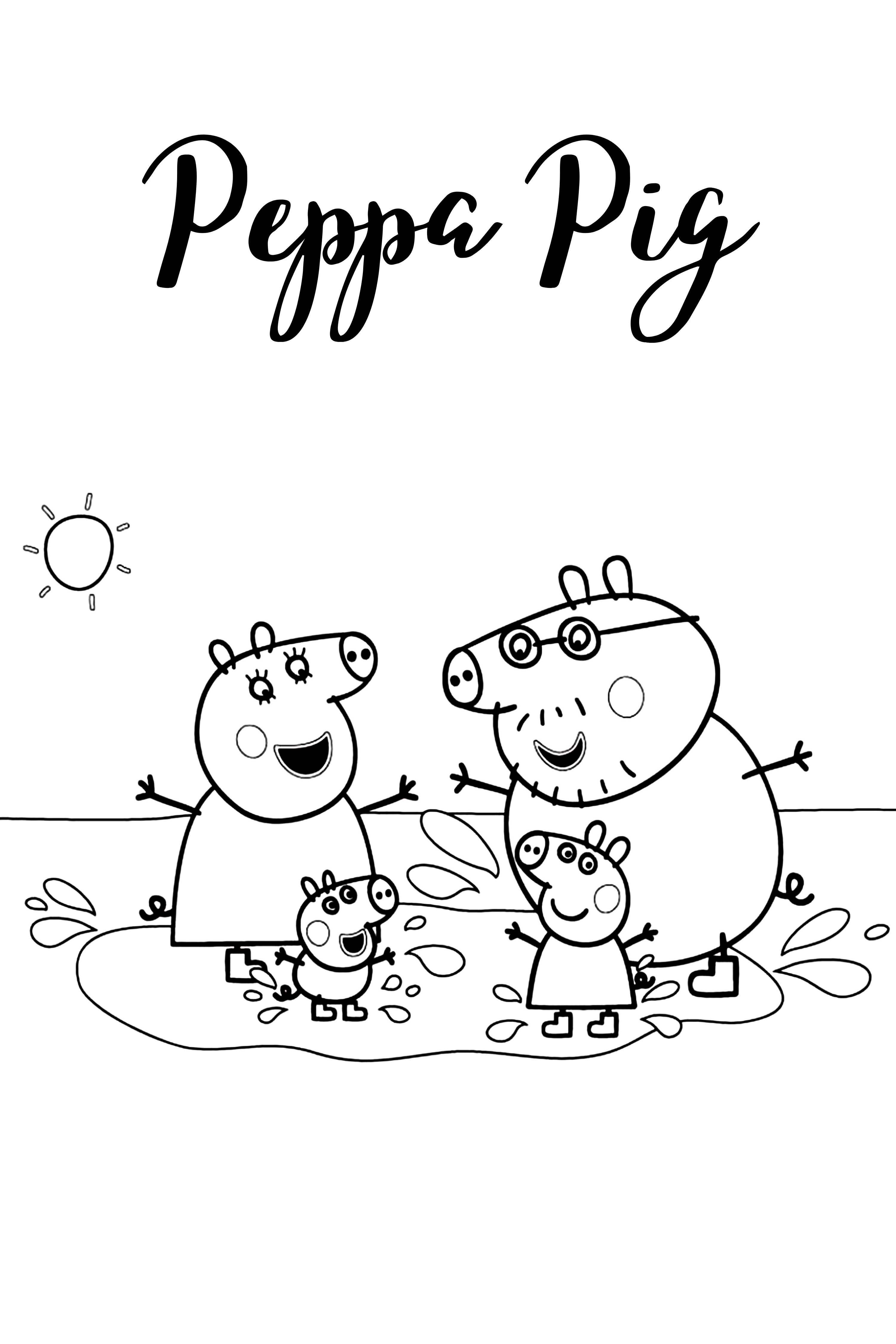 50 Peppa Pig Coloring Pages For Kids Peppa Pig Coloring Pages Cartoon Coloring Pages Cute Coloring Pages