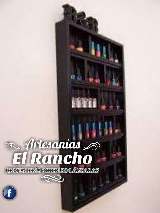 Rack para esmalte para uñas. | Muebles de tarimas Costa Rica | Pinterest