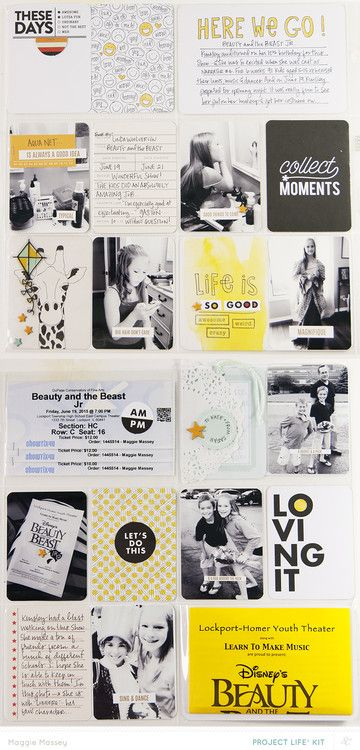 kinsley's debut - Fairground Project Life Spread - Main Only by maggie_massey at @studio_calico