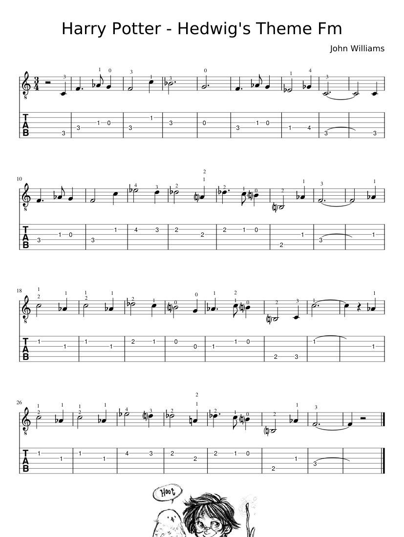 Print And Download Harry Potter Hedwig S Theme Fm Harry Potter