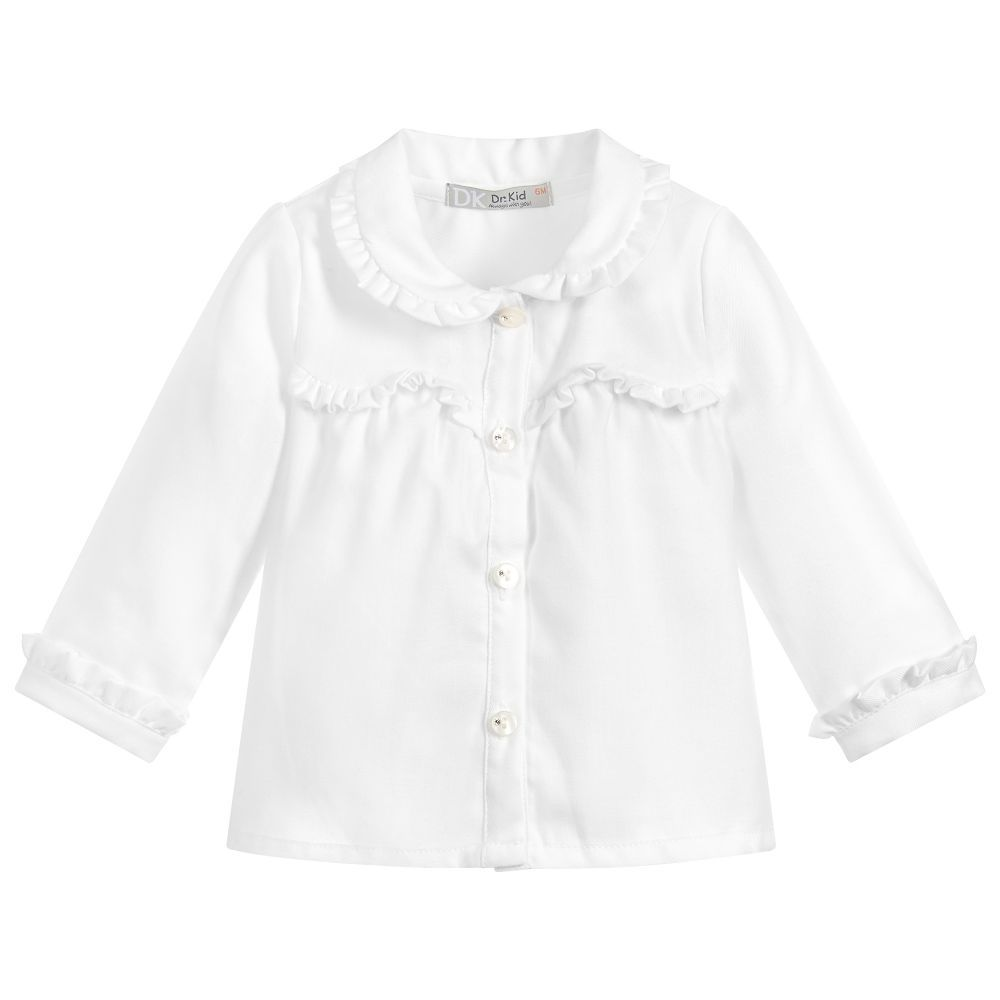 19075aa2698e Girls White Cotton Blouse for Girl by Dr. Kid. Discover more ...
