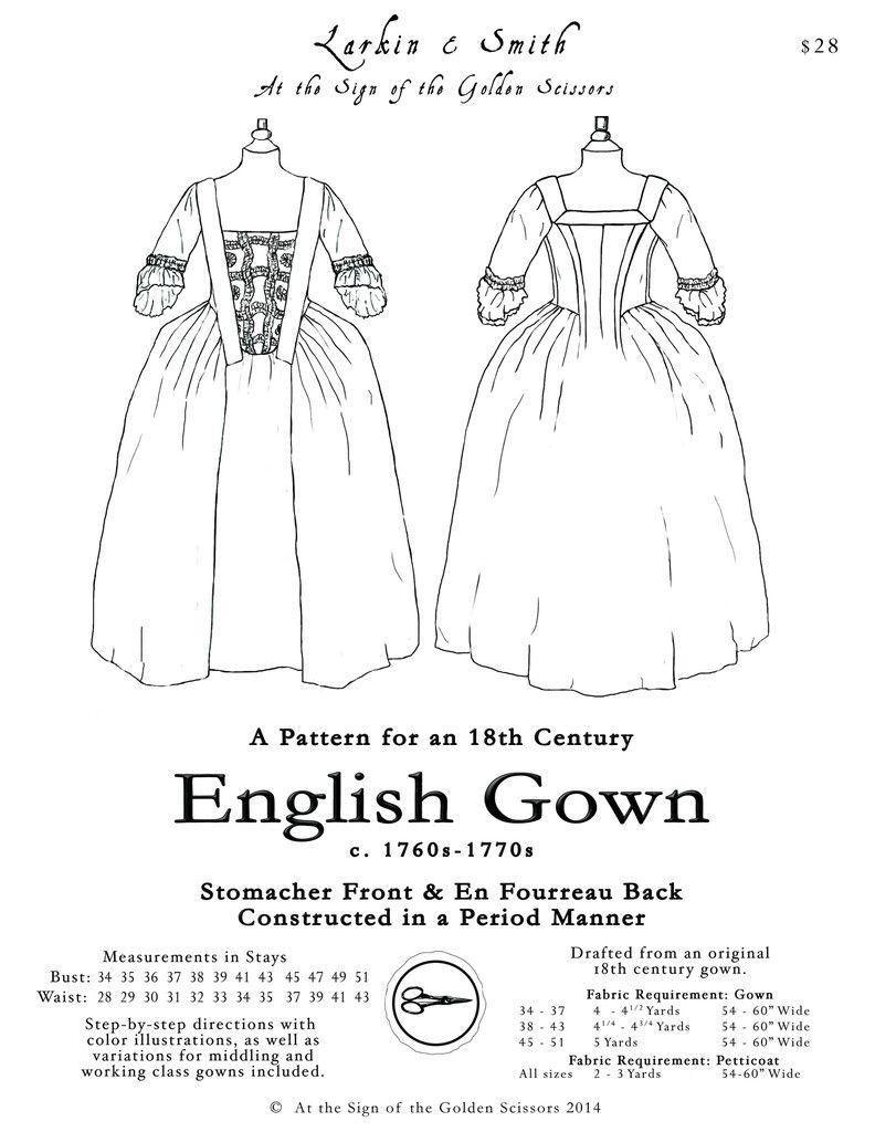 th century english gown pattern english gowns and patterns 18th century english gown pattern