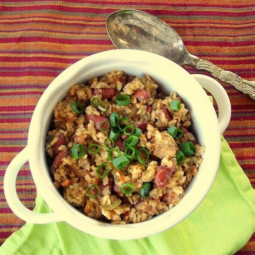 """the good times roll! …or as they would say in New Orleans, """"Laissez le bons tems roule!"""" Mardi Gras is here, and with a considerable amount of the festivities focused on food – let's join the fun and make a deliciously vegan jambalaya. I love using the crockpot, because it makes cooking simple… the … … Continue reading →"""